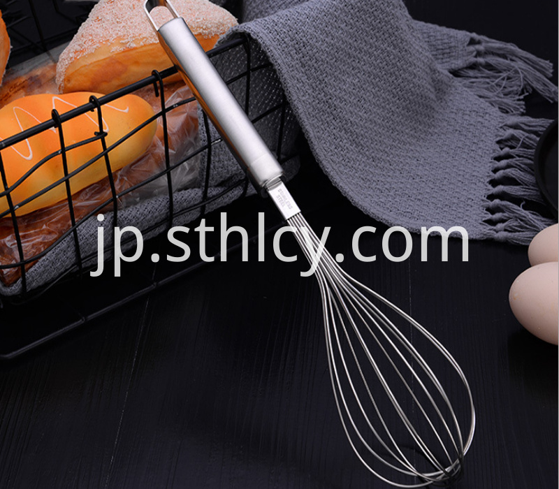 Stainless steel kitchen whisk