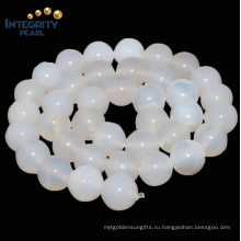 Раунд 4 6 8, 10, 12мм Оптовый белый агат натуральный камень из агата драгоценных камней