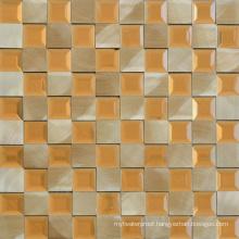 Spanish Style Hotel Lobby Beveled Edge Aluminum Mosaic Tiles