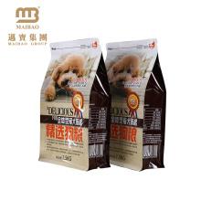 L'impression faite sur commande a accepté le sachet d'emballage alimentaire en plastique stratifié d'aliments pour animaux de compagnie d'animal familier stratifié par gousset plat inférieur