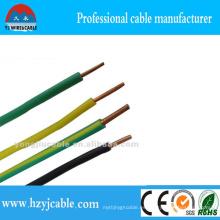 Cable de alimentación eléctrico único de la sección transversal del conductor de cobre único