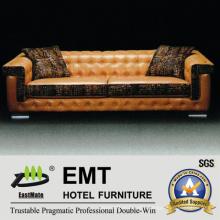 Modern Hotel Sofa Hot Selling Leather Sofa Set (EMT-SF36)