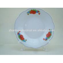 Newest porcelain plate ,latest China ceramic plate , ceramic plate