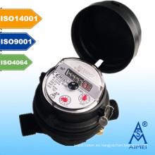 MEDIO medidor de agua chorro único certificado tipo seco