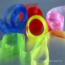 Simple o doble cara decorativa cinta de raso para fiesta