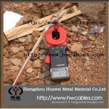 Conducteur de cuivre vers le bas pour la protection contre l'éclairement et la mise à la terre
