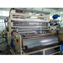 Máquina de rebobinado de film estirable y adherente de maquinaria plástica