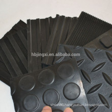 Anti-slip rubber sheet for floor mat