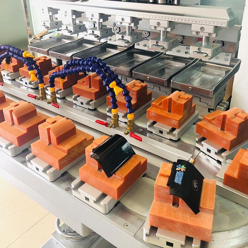 P6c 6 Color Rotary Table Tampo Printer Conveyor Pad Printing Machine 2 Jpg