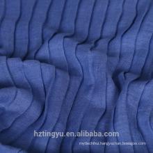 Top selling printed plain color muslim cotton scarf Crinkle Pleated plaid hijab