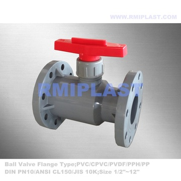CPVC Nhựa Ball Ball Flange End PN10