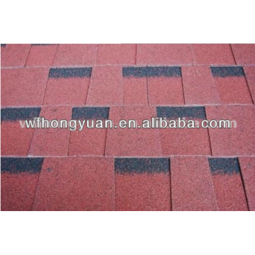 Plain Roof Tiles Type and Fiberglass and Asphalt Material Red Asphalt Shingles