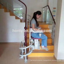 Straight Stair Elevator Elderly use Transfer Chair Stair Lift small home stair lift