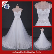 Sh0605 Love forever robe de mariée sparkle perlée robes de mariage vraies photos