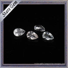 3X5mm Tear Drop Clear White Natural Topaz for Jewelry