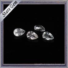 Topázio natural branco claro da gota do rasgo de 3X5mm para a jóia