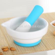 ensemble d'outils de cuisine en silicone avec poignée en silicone et base en silicone antidérapante