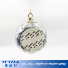 2020 New Sublimation Christmas Ball Plastic Ornament
