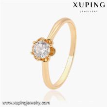13831 Xuping chapado en oro anillos de señoras de diseño más nuevo