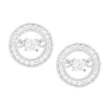 925 Silver Dancing Diamond Jewelry Stud Earrings