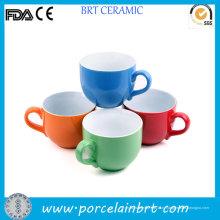 Милые Широкий Tazza Рта Керамическая Чашка Чая