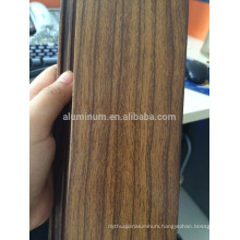 Wood tranfer aluminum profiles for sliding window for Algeria