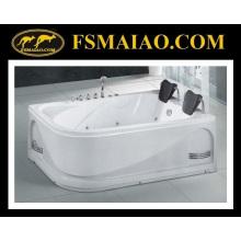 Bañera de hidromasaje de baño de dos asientos de acrílico popular (BA-8721)