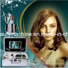 Nouvelle machine d'essai de peau et de cheveux avec l'écran de 7 pouces Analyser l'analyseur sain de peau et de peau de cheveux