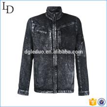 Special washed black oversized denim jacket plus size denim blazer