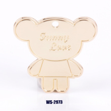 Pingente personalizado do distintivo da decoração do tipo para Handbags