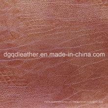 Sofá de cuero resistente a los arañazos Qdl-50249