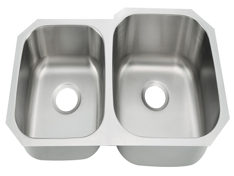 High-end double basin stainless steel kitchen sink