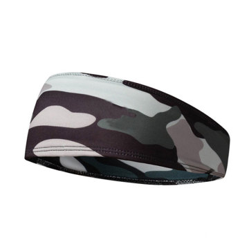 Men Camouflage Hair Head Sport Elastic Cool Thin Printed Sweatband