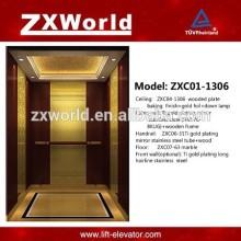 ZXC01-1306 Luxuoso Design VVVF Elevador de passageiros Elevador