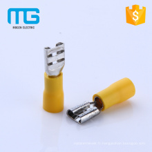 Nouveau jaune 24A PVC femelle tailles de connecteur de bêche