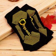 Logotipo de personalizar cinco del dedo del pie dedo del pie medio antideslizante Yoga calcetines de las mujeres