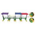 Los niños diseñan el taburete material coloreado de los PP para el niño