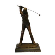 Sport-Messingstatue-Golf-Spieler, der Bronzeskulptur Tpy-901 schnitzt