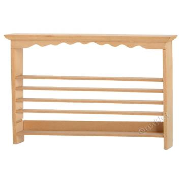 Dollhouse wholesale display goods shelf wood furniture