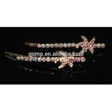 2015 Star Design Очаровательный блестящий кристалл Барретт Rhinestone Bobby pin