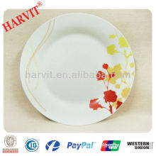 "Fine Porcelain Printing Plate 10.5""Dinner Plate"
