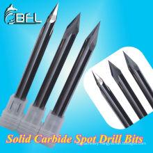 Tungsten CNC Carbide Micro mill bits for stone lathe R0.2 radius