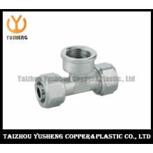 T-Joint Femal Forged Brass and Stainless Steel Pipe Fittings for Pex-Al-Pex (YS3311)