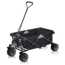 Carro de carro plegable con carrito de jardín portátil de 4 ruedas