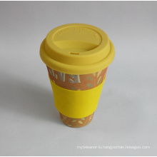 (BC-C1038) Eco Bamboo Fibre Coffee Cup with Print