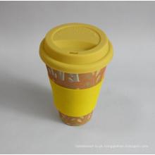 (BC-C1038) Copo de café de bambu da fibra de Eco com impressão