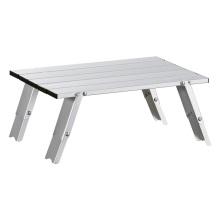 Mesa de camping baja de muebles de patio de aluminio fundido simple