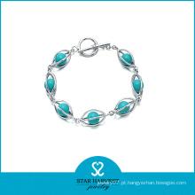 2015 mais vendidos turquesa pulseiras de prata esterlina (SH-B-0003)