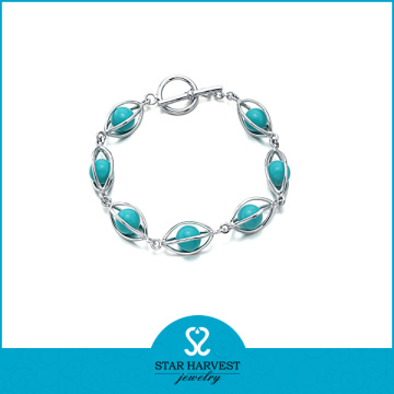 2015 Best Selling Turquoise Sterling Silver Bracelets (SH-B-0003)