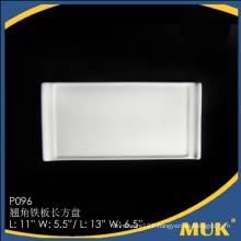 chaozhou factory china wholesale flat crockery plates for hotel